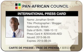 PAC Correspondents Press Card